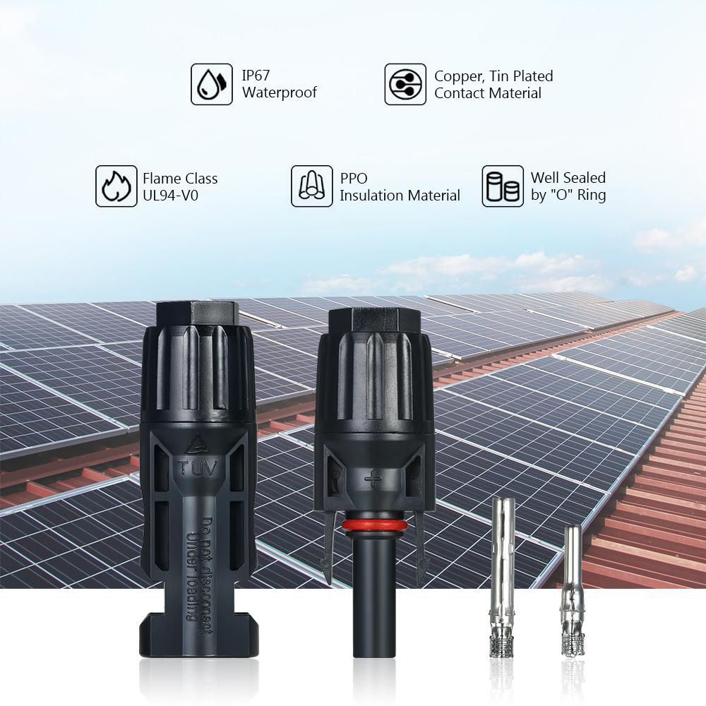 10 Pairs – MC4 Male/Female Solar Panel Cable Connectors